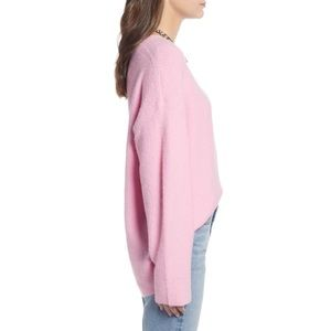 Something Navy Sweaters - Something Navy Pink Low Neckline Slouchy Pullover a9083b95a